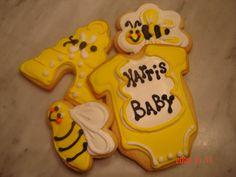 Bee Theme Baby Shower Cookies
