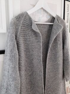 Fall Coat - knit top down, pattern by Anna & Heidi Pickles