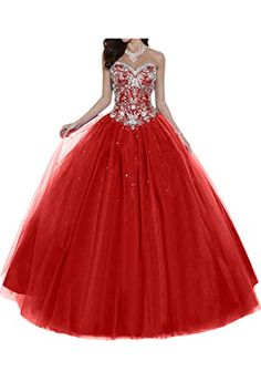 759ebbb05f Gorgeous Bridal Tulle Sparkling Crystal Ball Gown Quinceanera Prom Dress  for Sweet 16- US Size 2