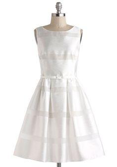 Dinner Party Darling Dress in White from ModCloth. #weddingdress #whitedress #weddingstyle