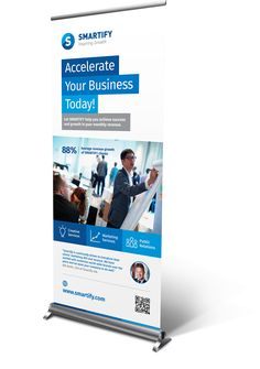 Corporate Business Roll-up Banners Template on Behance Pull Up Banner Design, Standing Banner Design, Pop Up Banner, Cool Business Cards, Corporate Business, Rollup Design, Banner Design Inspiration, Retractable Banner, Web Design