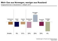 Das Erdgasaufkommen sank nicht ganz so stark wie der Erdgasverbrauch - der...
