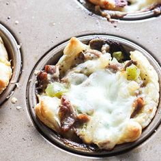 Philly Cheesesteak Cups