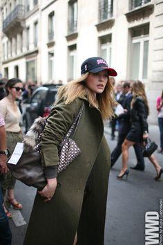 b158d5f714f baseball cap. oversized coat Sporty Chic