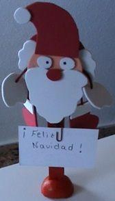 Papa Noel portador de mensaje Feliz Navidad de goma EVA