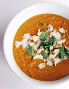 Light Coconut Curry Butternut Squash Soup