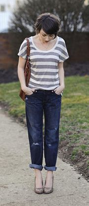How to Wear Distressed and Rolled Denim