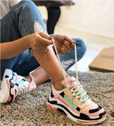 Designer sneakers have long stepped out of the limelight of athletic realms into the stardom of runway glamour ruling the high fashion scenes and exceeding the Sneakers Fashion, Shoes Sneakers, Shoes Uk, Fashion Shoes, Chunky Shoes, Aesthetic Shoes, Hype Shoes, Balenciaga Shoes, Sport Wear