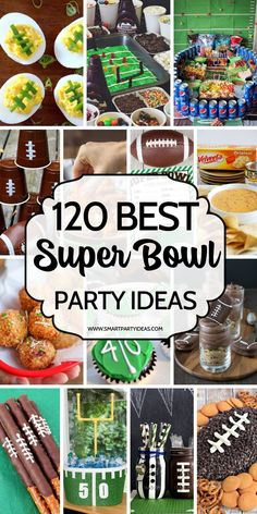 football party food 120 WINNING hacks and ideas to help you host an Epic Super Bowl Party. From food to games and everything in between these ideas are a guaranteed touchdown. Party Snacks, Appetizers For Party, Appetizer Recipes, Superbowl Party Food Ideas, Superbowl Decor, Party Recipes, Super Bowl Appetizers, Football Party Decorations, Parties Food