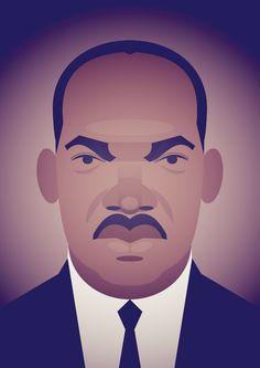stanleychowillustration:  Remembering MLK.