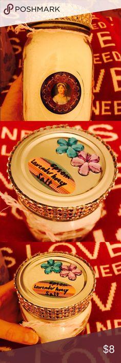 honey epsom salt therapy 16 oz mason jar lavender and honey epsom salt ...