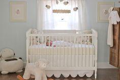 Jenny Steffens Hobick: Emma's Nursery | Soft & Cuddly Nursery | Pale Blue & Cream Lambs & Sheeps