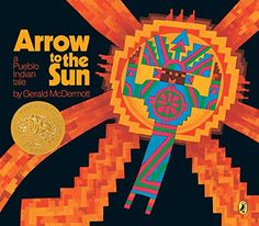 Arrow to the Sun: A Pueblo Indian Tale by Gerald McDermott https://www.amazon.com/dp/0140502114/ref=cm_sw_r_pi_dp_x_fer1zb8WQ3FSZ