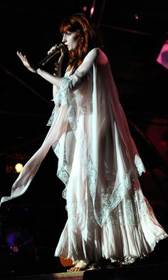 Florence Welch Performed On Stage With Florence And The Machine At Somerset House, 2010