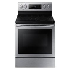 Samsung NE59J7630SB 5.9 cu.ft. True Convection Electric Range - Stainless Steel -Sears website doesn't show it in white. Well reviewed on CNET.