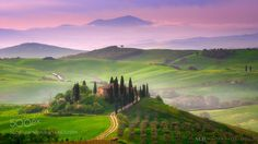 Tuscan Sunrise by mabart