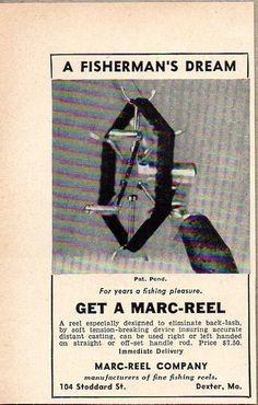 1947 Print Ad Marc-Reel Fishing Reels Dexter,Missouri #MagazineAd