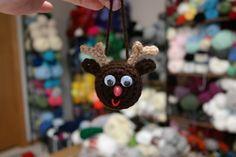 Light Up Reindeer Ornament - Free Pattern
