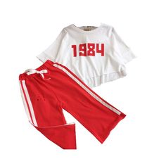 FTSUCQ Girls Short Sleeve Top Shirt with Cropped Trousers Pants, Two-piece Sets,Red 120. Suitable for 100CM-140CM height girls with age 3-11 Years old little and big girls. Color: yellow,red for your reference. Material: Cotton blended, cool and comfortable for girls. Suitable for dancing, sports, beach, seaside, holiday, indoor and outdoor, school, kindergarten, etc. 9-18 business days delivery to US by United States Postal Service, US trademark: FTSUCQ (Serial Number 86936743), Customer...