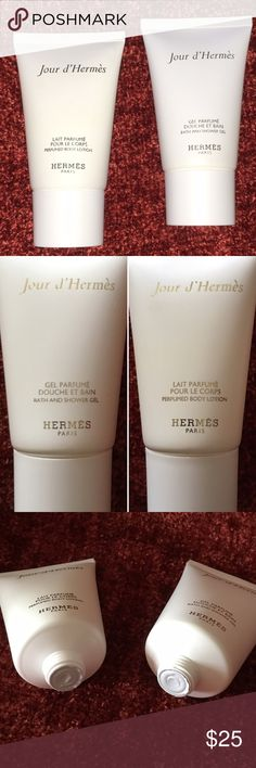 Hermes Jour d'Hermes Set NWOB Hermès Jour d'Hermès perfumed body lotion and shower gel, 1 fl oz each. The bottles are sealed. Brand new without box. Hermes Makeup