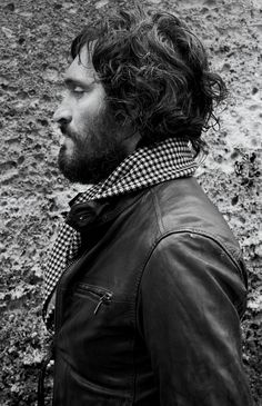 Leather + houndstooth.  {Vincent Gallo for G-Star}