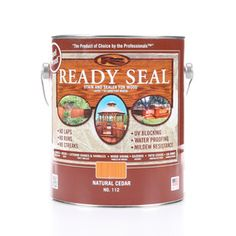 Ready Seal Natural Cedar Semi-Transparent Exterior Stain (Actual Net Contents: 128-Fl Oz) 112
