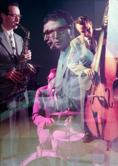 Dave Brubeck, Paul Desmond, Joe Dodge & Bob Bates. Portraits of Jazz Legends. Photos: Eliot Elisofon.
