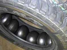 Tires containing the TIREBALLS tire protection system use a multiple air cell design which allows puncturing of several cells without total loss of air pressure. Option for a RZR on rough terrain trail rides? Accessoires Camping Car, Pirelli, Vw Lt, Offroader, Jeep Xj, Jeep Wrangler, Bug Out Vehicle, Expedition Vehicle, Emergency Response