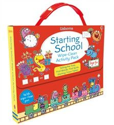 Starting school wipe-clean activity pack £7.99 coming soon