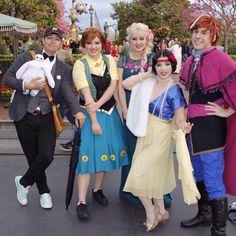 Dapper day disneybound - Tadashi - Frozen Fever Elsa and Anna - Snow White - Genderbent Anna