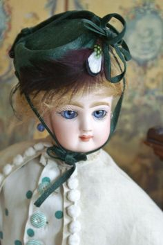 "Strikingly beautiful Jumeau Poupee Peau 15"" - beautiful bebes attic finds - Valerie Fogel"