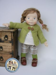 Madeline - natural fiber art doll by Lalinda.pl