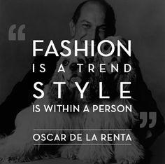 Shopping quote Oscar de la Renta Quote