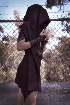 Grim Reaper hooded scarf thick by RavenChantDesigns on Etsy, $75