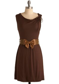 Sentimental Journey Dress. This item was picked by you in our Be the Buyer Program and will be sold exclusively online at ModCloth! #brown #modcloth