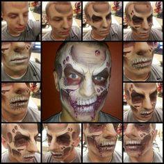 Zombie skull face paint