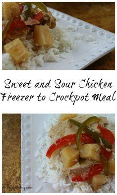 Sweet and Sour Chicken Freezer to Crockpot Recipe on Having Fun Saving