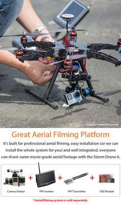 STORM Drone 6 V3 GPS Flying Platform (RTF / NAZA Lite) http://www.helipal.com/storm-drone-6-gps-flying-platform.html