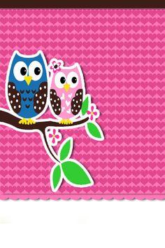 6ca2829179fb Owl + Hearts iPhone Wallpaper