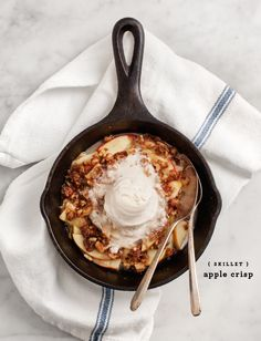 "This would be a great dessert on the table of any dinner party or a no-fuss, no-crust Thanksgiving apple ""not-pie."""