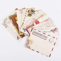 12PCS/set Retro Mini Paper Envelopes f. Postcard Christmas Birthday Card Letter #Unbranded