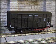 Ls Models 30370 Wagon couvert à essieux, Ocem 19 KKww, noir, Est