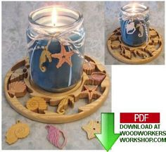 Sea shell candle trays. Lots more candle trays to come.