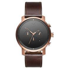 MVMT Chrono Rose Gold/Brown Leather
