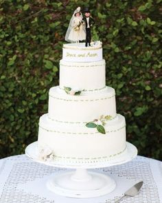 """See the """"The Cake"""" in our A Whimsical Green Outdoor Destination Wedding in Savannah, Georgia gallery"""