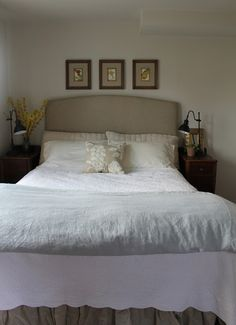 Sixty-Fifth Avenue: Upholstered headboard