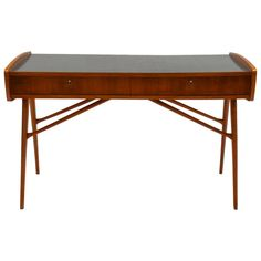 Unique 1956 Commissioned Cherry Desk by Alfred Hendrickx for Belform   From a unique collection of antique and modern desks and writing tables at https://www.1stdibs.com/furniture/tables/desks-writing-tables/