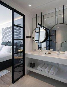 60 awesome open bathroom concept for master bedrooms decor ideas Hotel Bathroom Design, Hotel Room Design, Bathroom Interior, Hotel Bathrooms, Design Bedroom, Luxury Hotel Bathroom, Small Bathrooms, Bathroom Renovations, Bad Inspiration