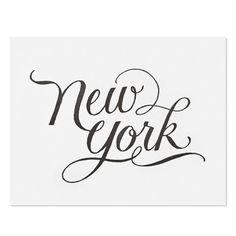 New York Letterpress Print.