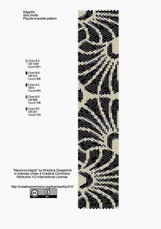 KIKI Beads: Shells peyote bracelet pattern - pattern
